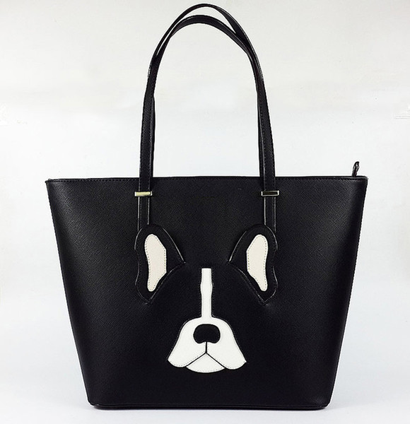 french bulldog bag ksbag bucket antoine bag shoulder purse animal fashion spade bag designer satchel faux leather tote for women (434194119) photo