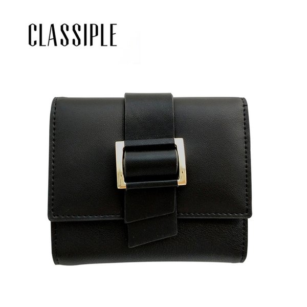 split leather women wallet short hasp womens wallets and purses coin wallets ladies black belt purses female carteras (427154328) photo