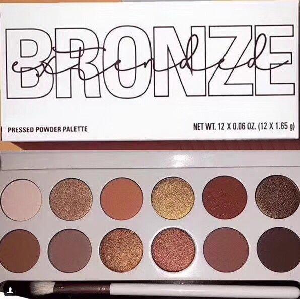 2018 new makeup 12 color bronze nice pre ed powder eye hadow palette 12 x 1 65g dhl hipping