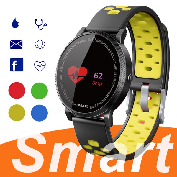F4  mart bracelet watch band fitne   tracker blood pre  ure heart rate monitor thermometer pedometer wri tband for android io