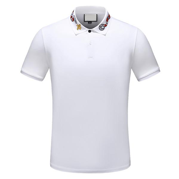 2019 дизайнер полосатая рубашка поло футболки змея поло пчелы цветочная вышивка му фото