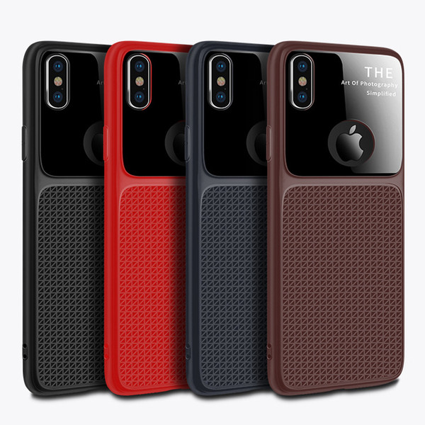 New luxury mirror cell phone ca e for iphone x  max xr x 6  7 8 plu   oft tpu  ilicone mobile phone ca e cover for  am ung galaxy  8  9 plu