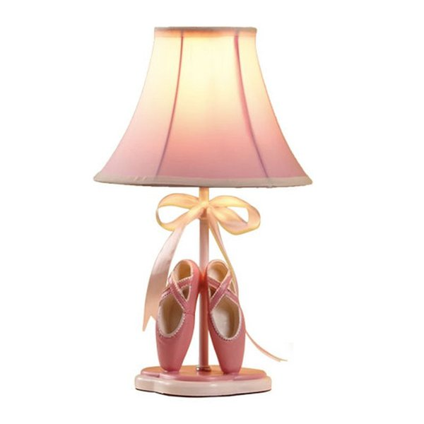 Oovov girl room toe hoe fabric de k lamp cartoon prince room pink de k lamp kid bed ide table light