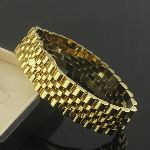 1.7 см ширина для часы цепь Корона браслеты браслеты для мужчин 316L из нержавеющей с