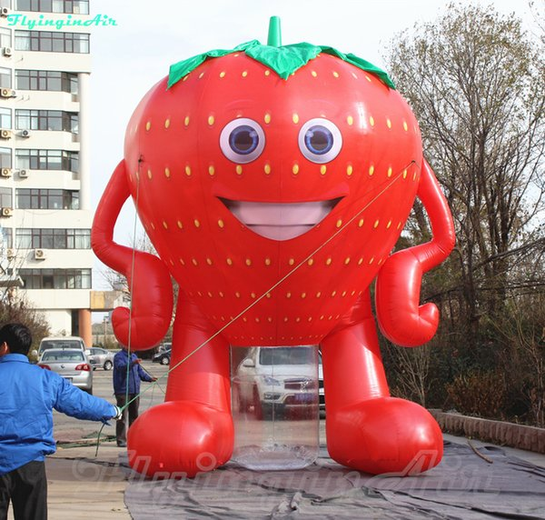 3m 5m cute inflatable  trawberry man creative inflatable  trawberry adverti ement