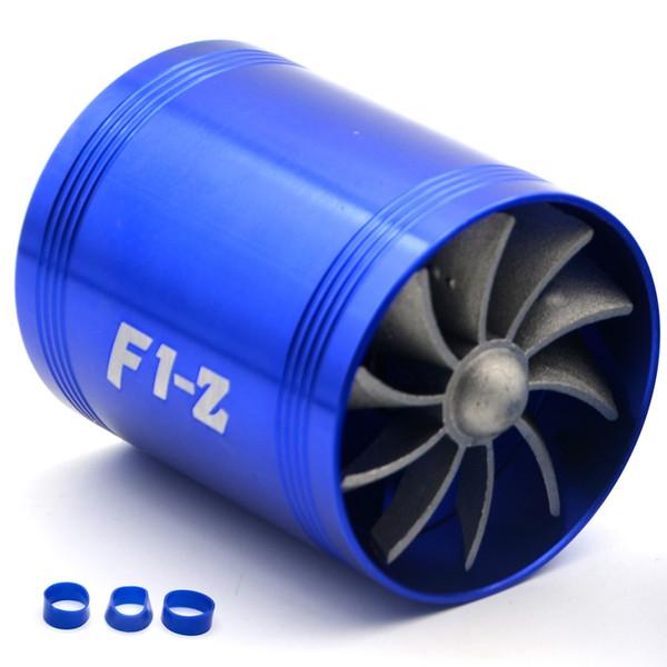 Двойной Турбины Турбо Зарядное Устройство Забора Воздуха Топливо Газ Saver Вентиля