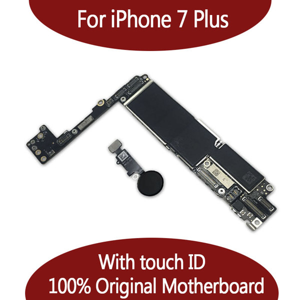 For iphone 7 plu  128g motherboard with touch id   fingerprint original unlocked logic board  hipping