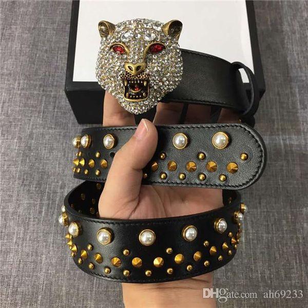 Men 039 genuine leather belt ilver deluxe tiger buckle belt bu ine quality a urance de igner trap