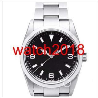 Роскошные часы из нержавеющей стали Браслет черный циферблат 114270 ЧАСЫ ГРУДЬ 36MM механические автоматические моды Мужские часы Наручные часы фото