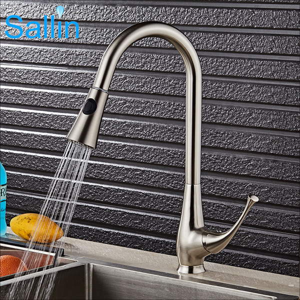 Newest Brushed Nickel Kitchen Mixer Tap Pull Out Kitchen Mixer Tap 360 Swivel Shower Spray Head kitchen tap mixer kitchen tap kitchen mixer tap.We offer the best wholesale price, quality guarantee, professional e-business service and fast shipping . You will be satisfied with the shopping experience in our store. Look for long term businss with you.