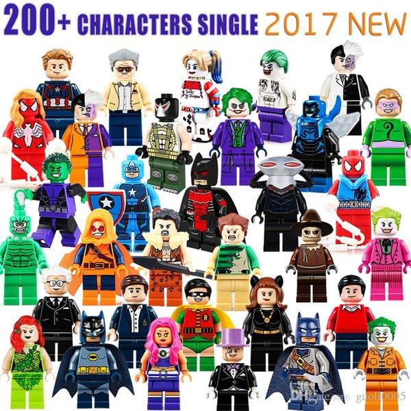 Оптовая 1000+ Строительные блоки Super Hero Цифры Игрушки Мстители игрушки Joker игрушки м фото