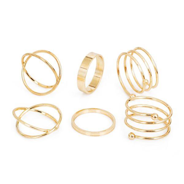 2017 горячая уникальный комплект кольца панк кулак золотые кольца для женщин палец фото