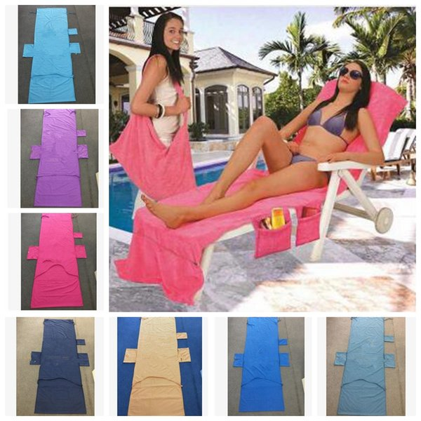 215 75cm beach lounge chair cover ummer party double velvet unbath lounger beach chair cover towel kka4475