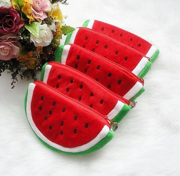 the multipurpose creative fruit lovely cartoon watermelon, strawberry, orange coin bag purse wallet (410065975) photo