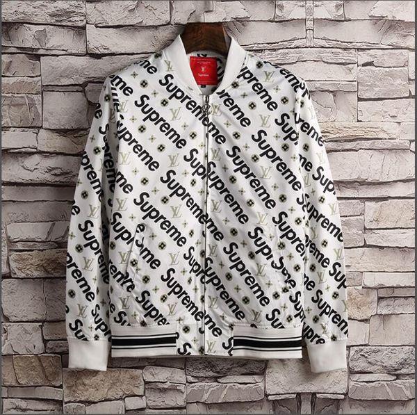 2018 новая мода мужчины куртка пальто с письмом печати Роскошные дизайнерские курт фото