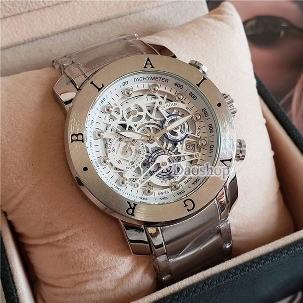 brand 50mm steel strap luxury watch men luxury watches Stainless steel clock BVL new mens watches Relogio brand watch all pointers work (wholesaledropship) Simi Valley Buy Sell