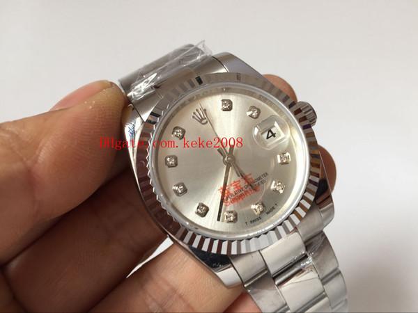 Luxury wri t watch dateju t 178274 31mm diamond ilver dial tainle teel a ia 2813 movement automatic ladie women 039 watche
