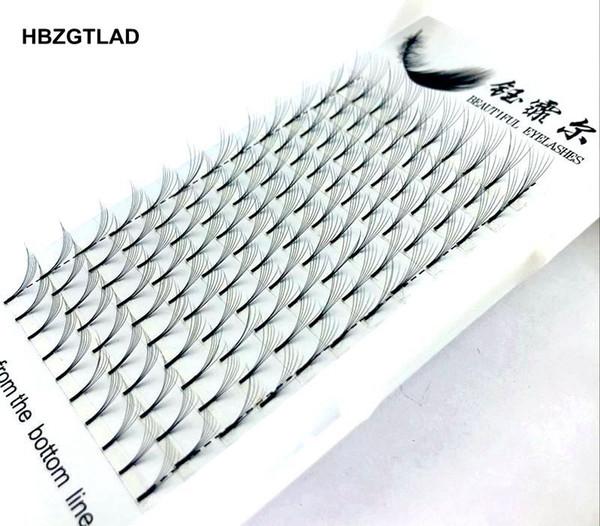 Новый 6d Русский объем ресницы расширение длинный стебель предварительно сделал вентиляторы C / D завиток норки ресниц горячие продажи ресниц индивидуальные расширения