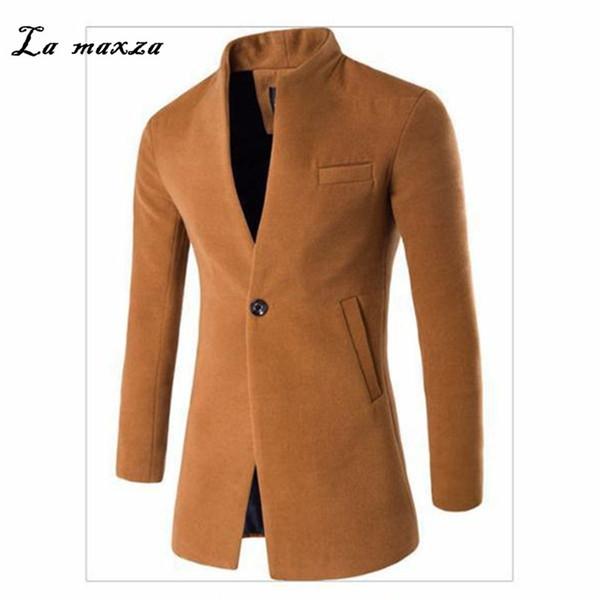 Шерсть Мужская Пальто 2018 Смарт Повседневная Зимнее Платье Пальто Мужские Пальто фото