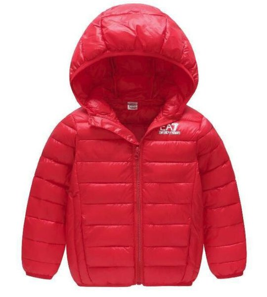Winter new children's down cotton casual boys and girls in the children's hooded light cotton coat short