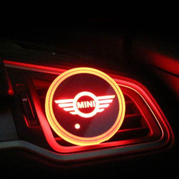 2pcs / комплект MINI Cooper Coopers земляк логотип знак автомобиля привело Блестящая воды Ку фото