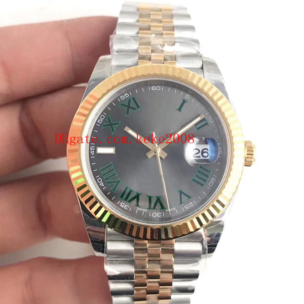 Luxury ew factory 41mm dateju t 116333 pre ident two hade 18k gold teel wi cal 3255 movement automatic men watch watche