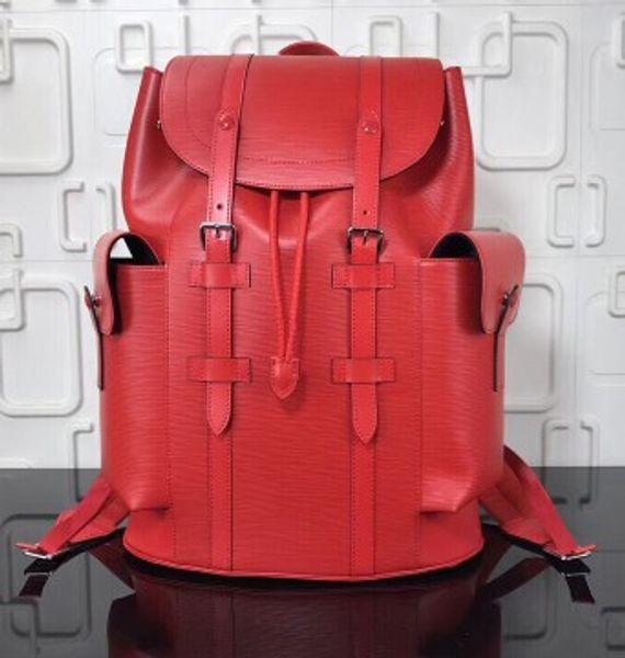 Мода мужчины кожаный фрагмент блиц Обсидиан рюкзак m41379 спорт дорожные сумки школ
