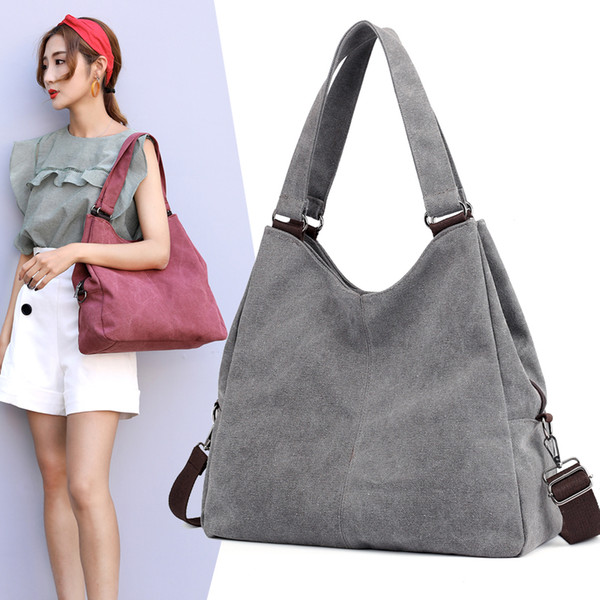 new 2018 women shoulder bag handbag female hobo tote bags ladies crossbody messenger bag canvas purse (423182675) photo