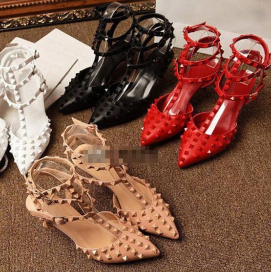 Цена по прейскуранту завода V заклепки насосы высокие каблуки с 3 полосы натуральная кожа свадебные туфли Женские 10 см туфли на высоком каблуке 35-43