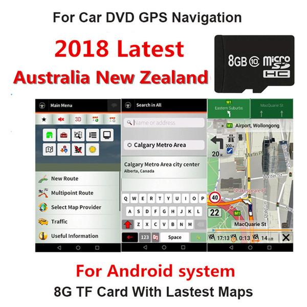 Самая новая карточка SD карты Австралии Новой Зеландии навигации 8GB автомобиля для системы GPS Андроида