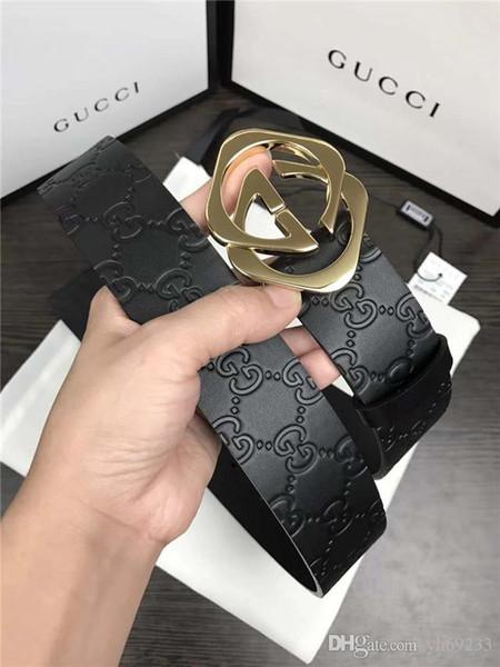 (with box) 2017 Top quality brand belt wholesale belt new hip brand buckle designer belts for men women genuine leather Men's belt