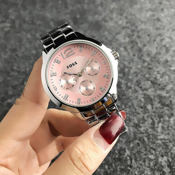 Мода наручные часы FOSS Марка женская девушка стиль металл стальной браслет кварцевые часы FO 03