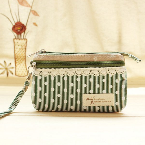 floral retro women coin purse handbags zipper korean little girls purse mini bag (433368596) photo