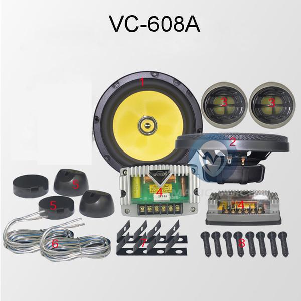ВК-608A топ-класса автомобильная компонентная акустика пассивная 130 Вт чувствительность 92 дБ автомобиля