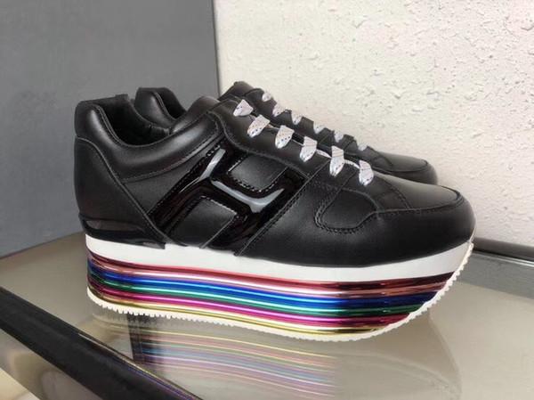 2018 повседневная обувь на шнуровке Дизайнерский комфорт Pretty Girl Женщины кроссовки Повседневная кожаная обувь Мужские женские кроссовки Очень прочный