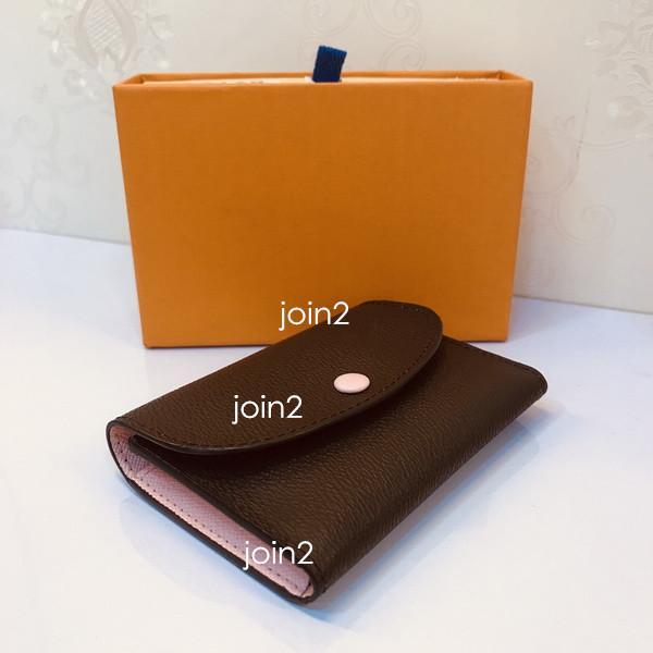 Розали портмоне, мода женщин компактный бумажник розовый высокое качество коричневый холст Бесплатная доставка