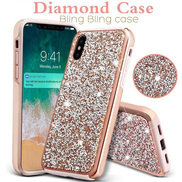 For iphone x  max xr x 8 7 6 plu  premium diamond glitter ca e luxury 2in1 tpu   pc phone cover for  am ung  10 plu   10e  10  9  8 note 9