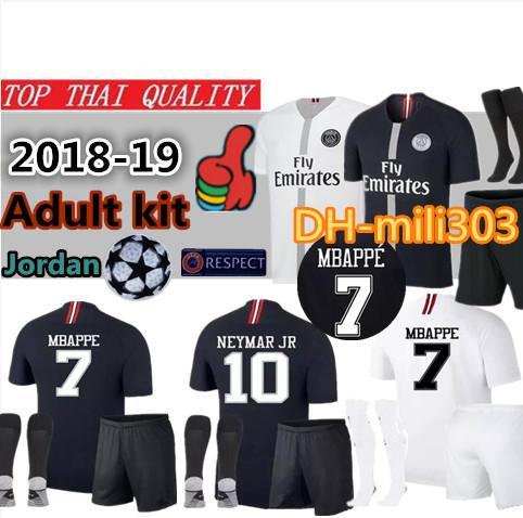 18 19 champion league p g occer jer ey kit 2018 2019 pari jordam aint germain 3rd third mbappe cavani football jer ey hirt kit uniform