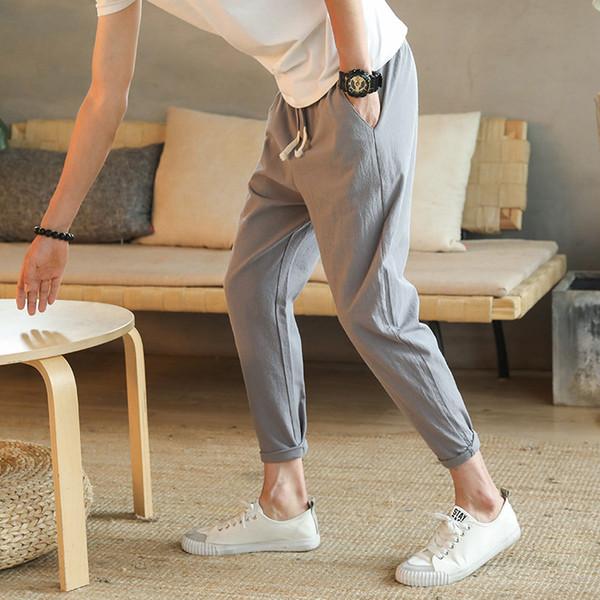 Uwback 2018 летние мужчины шаровары длиной до щиколотки белье тренировочные брюки шну