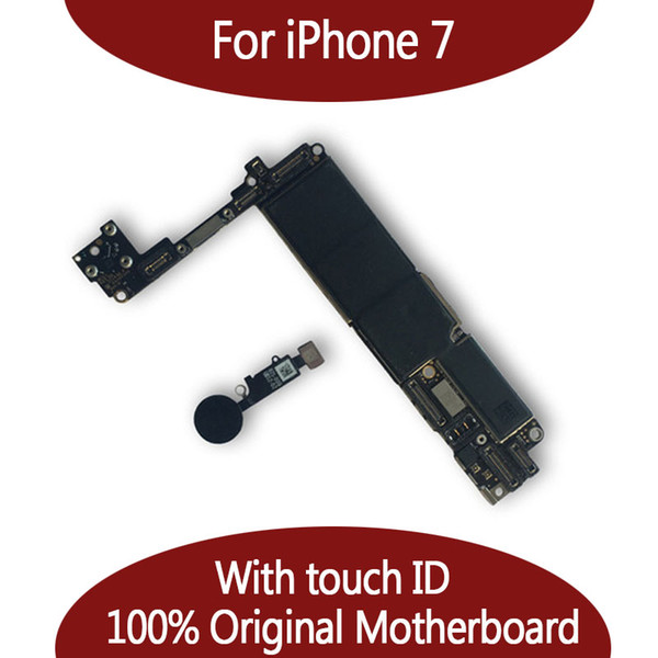 For iphone 7 32gb 128gb motherboard with touch id   fingerprint original unlocked logic board  hipping