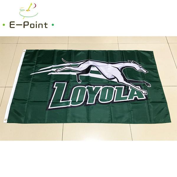 NCAA Loyola борзые команды полиэстер флаг 3 фута * 5 футов (150 см*90 см) флаг баннер украшен фото