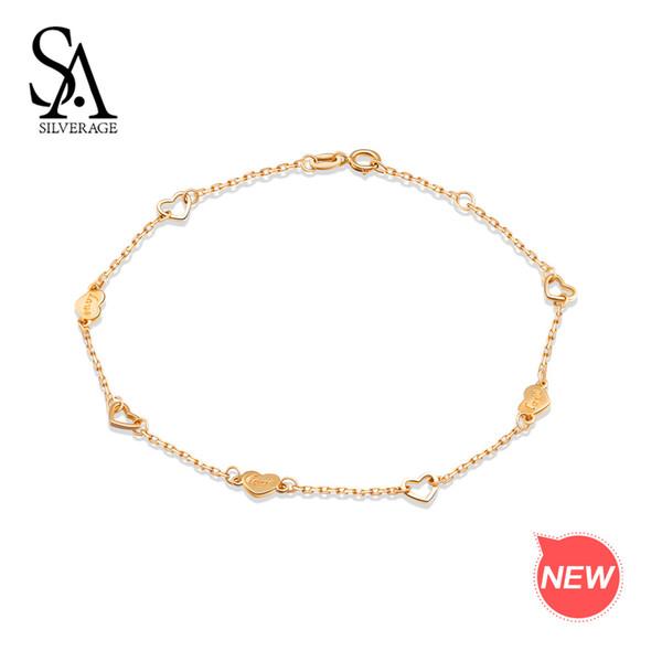 sa_silverage_14k_or_jaune_chaîne_lien_lien_bracelets_bracelets_pour_femmes_coeur_forme_charme_bracelet_amour_bracelets_beaux_bijoux