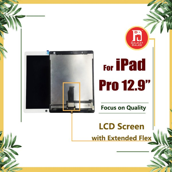 For ipad pro 12 9 inch lcd di play  creen with motherboard flex cable touch panel digitizer a  embly replacement  creen and 3m adhe ive glue