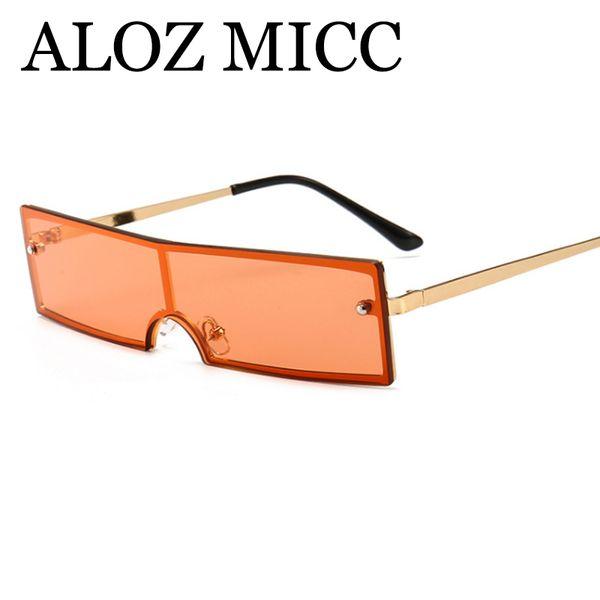 ALOZ ГИВЦ роскошные солнцезащитные очки без оправы солнцезащитные очки Женщины мужчины прямоугольник сплава цельный дизайнер мода солнцезащитные очки gafas-де-Сол солнечные очки UV400 A573 фото