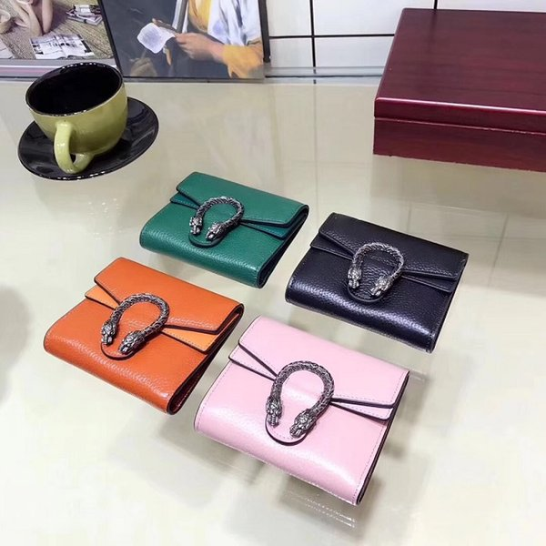 new arrival women genuine leather short style zipper cow leather wallet lady fashion thin style purse come with box phone bag discount (413485452) photo