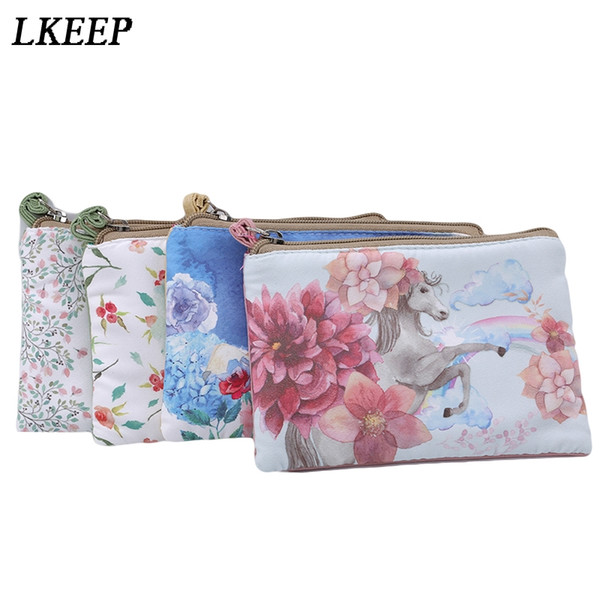 ladies canvas classic retro small change coin purse little key car pouch money bag girl's mini short coin holder wallet (431579085) photo