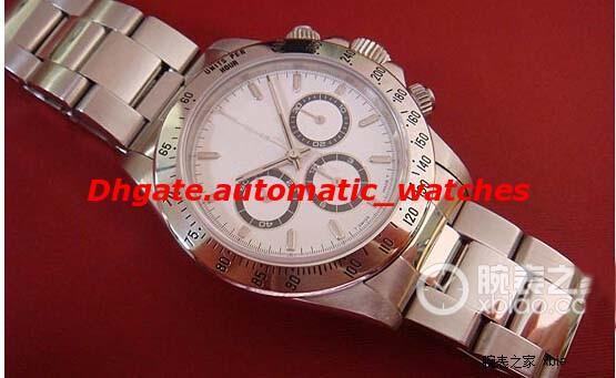 Роскошные часы 40 мм из нержавеющей стали браслет часы 116520 Z серии Черный / белый ци фото
