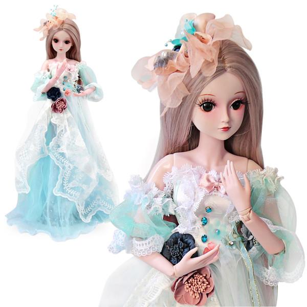 UCanaan 1/3 BJD куклы девушки SD куклы с полным наряды платье парик обувь макияж дети мода игрушки для девочек подарок коллекция