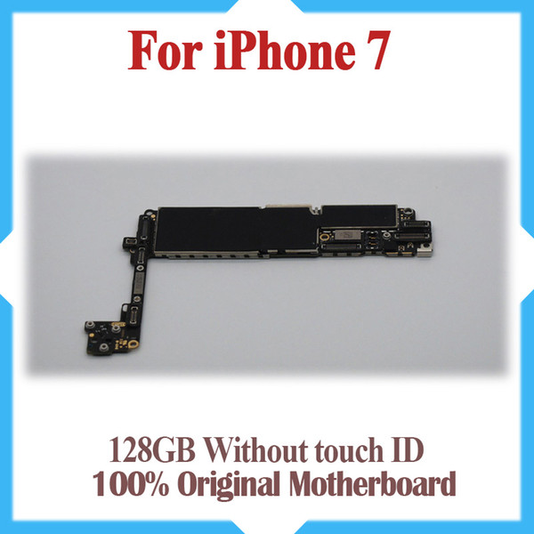 128gb for iphone 7 motherboard without touch id 100  original unlocked for iphone 7 mainboard with io   y tem  hipping