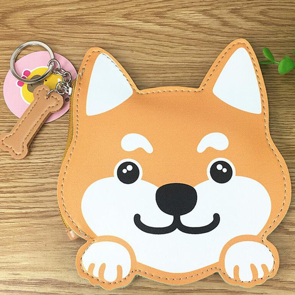 m145 2017 coin purses cute puppy husky dog avatar pu leather zipper zero purses key buckle wallet (417842484) photo